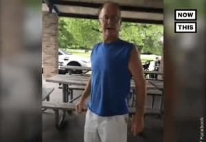 White man harasses Hispanic woman