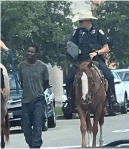 Galveston Police lead black man on leash