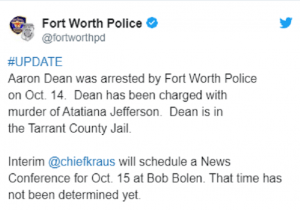 tweet from Fort Worth Police