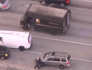 photo of hijacked UPS truck