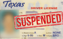 photo of a suspended driver's license