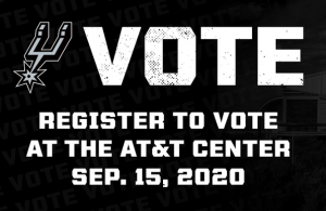 Spurs voter registration drive