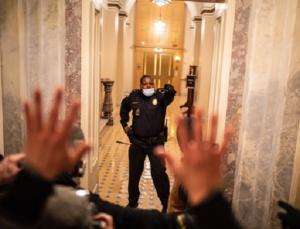 Officer Eugene Goodman confronts violent mob